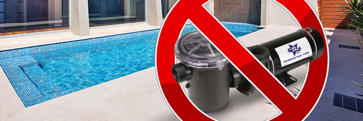 Don't use your pool's pump