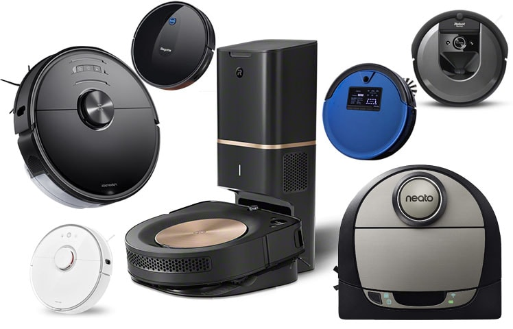 Collage of the best robot vacuums.